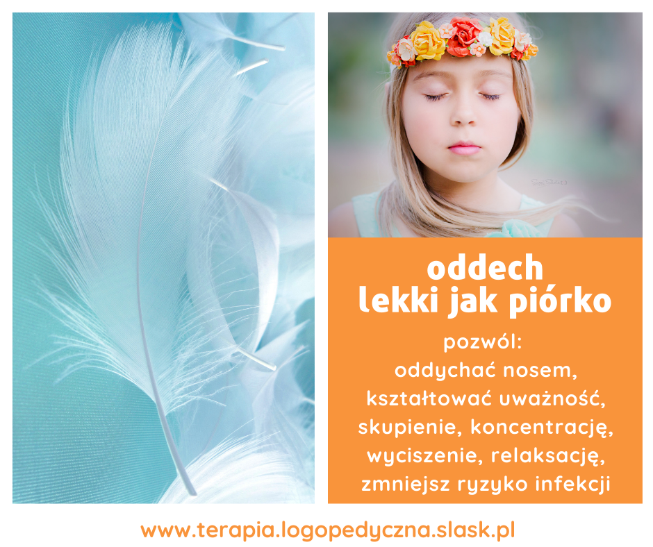 Oddech lekki jak piórko – zajęcia oddechowe dla dzieci
